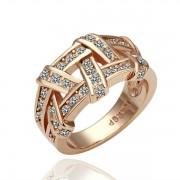 Rose Glod Weave КольцоЮвелирная бижутерия  Покрытие  Austrian Crystal