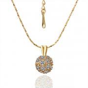 Clear Crystal Ball 18K Champagne Gold Plated Кулон Pendant Горный хрусталь Crystal Swarovski Elements