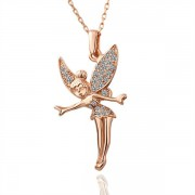 Rose Gold Fairy Fashion   Кулон Pendant Crystal SWA Elements