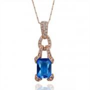 Blue Crystaly   Покрытие  Кулон Горный хрусталь Crystal SWA Elements
