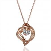 Hearts   Pendant Кулон Горный хрусталь Crystal SWA Elements