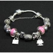 "Браслет Pandora ""Hello Kitty"" розовый"