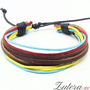 """Кожаный браслет """"Color Cord"""""""