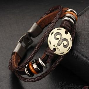 """Кожаный браслет """"Овен"""""""