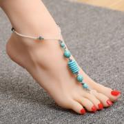 Браслет на ногу из Бирюзы