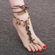"""Браслет на ногу """"Цветы"""""""
