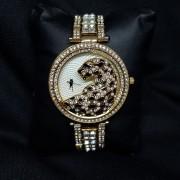 """Позолоченные  часы """"Леопард"""" (cartie)"""