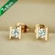 Золотое H Stud Серьги Кольцоs   Инкрустированно Genuine SWA ELEMENTS Austrian Crystal Wholesale