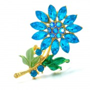 """Брошь """"blue flower"""""""