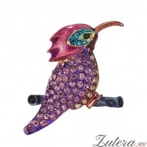 Брошь Колибри (Фиолетовая)