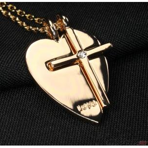 "Кулон ""Сердце с крестиком"""