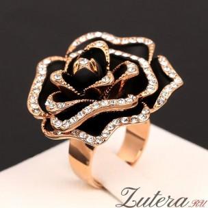 """Перстень """"Черная Роза""""(мега)"""
