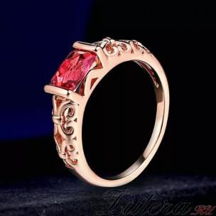"""Кольцо """"Ажур"""" (розовое)"""
