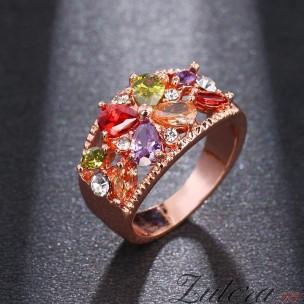 """перстень """"Цветы Мультиколор"""""""