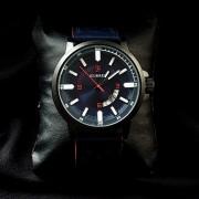 Мужские кварцевые часы Curren (синий с красным)