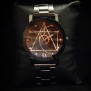 Кварцевые часы Унисекс чёрные