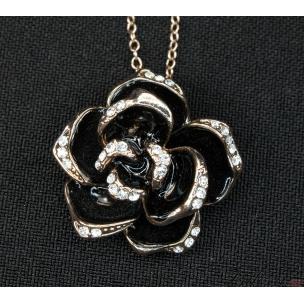 """Кулон """"Черная роза"""""""