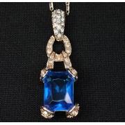 """Кулон """"Синий кристалл"""""""