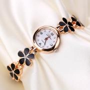 """Позолоченные часы """"Black Flowers"""" Lvpai"""