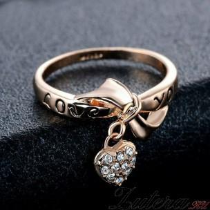 "Кольцо ""Сердце с Бантом"""