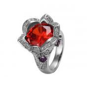 Red Цветок Кольцо 18 каратное золотое 18 каратное золотое покрытие орный хрусталь Austrian Crystal SWA Element