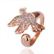 Pigeon Кольцо Кольцо 18 каратное золотое 18 каратное золотое покрытие орный хрусталь Austrian Crystal SWA Element