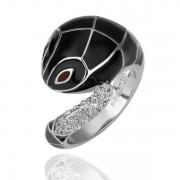 Black SnakeКольцо Ювелирная бижутерия  18 каратное золотое покрытие орный хрусталь Austrian Crystal SWA Element